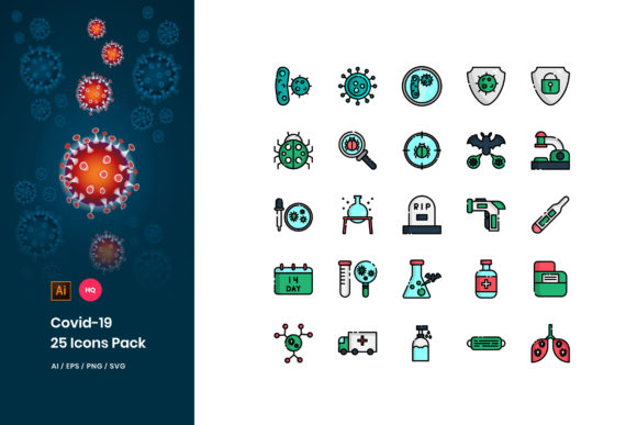 Download Free Covid 19 Icons Pack Graphic By Stringlabs Creative Fabrica for Cricut Explore, Silhouette and other cutting machines.