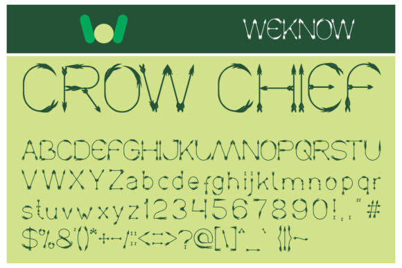 Print on Demand: Crow Chief Display Font By weknow