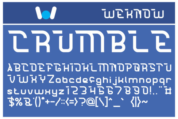 Print on Demand: Crumble Display Font By weknow