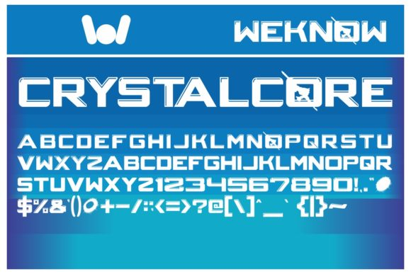 Print on Demand: Crystalcore Display Font By weknow