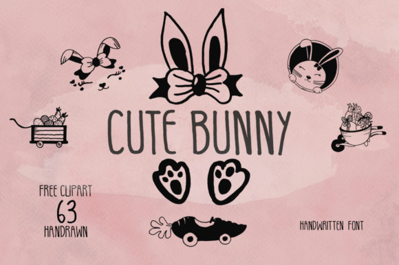 Download Free Cute Bunny Font By Fillo Graphic Creative Fabrica SVG Cut Files
