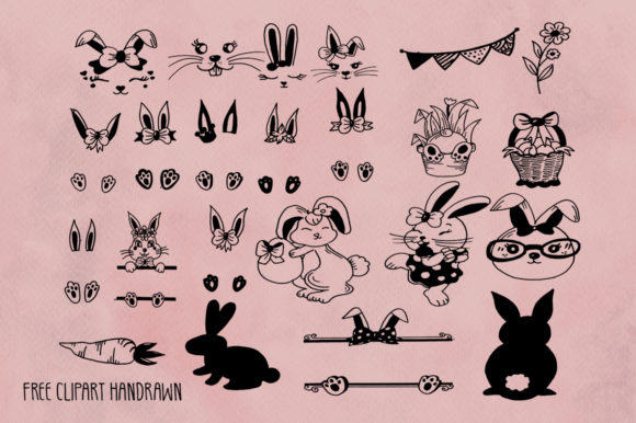 Download Free Cute Bunny Font By Fillo Graphic Creative Fabrica for Cricut Explore, Silhouette and other cutting machines.
