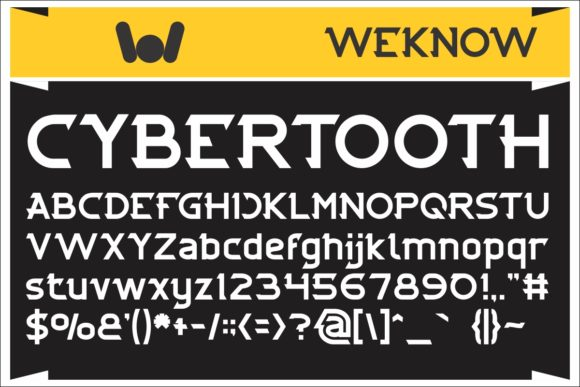 Print on Demand: Cybertooth Display Font By weknow
