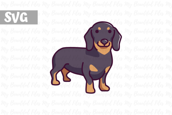 Download Free Dachshund Illustration Graphic By Mybeautifulfiles Creative SVG Cut Files