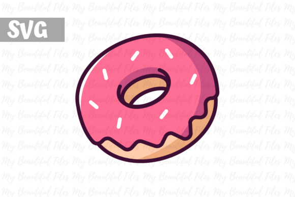Download Free Donut Icon Graphic By Mybeautifulfiles Creative Fabrica for Cricut Explore, Silhouette and other cutting machines.