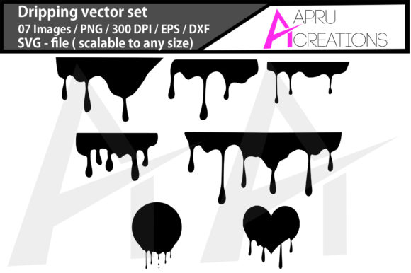 Download Free Dripping Dripping Silhouette Craft Graphic By Aparnastjp for Cricut Explore, Silhouette and other cutting machines.