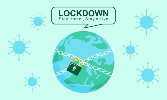 Download Free Earth Lockdown Stay Safe And Quarantine Graphic By Deemka for Cricut Explore, Silhouette and other cutting machines.