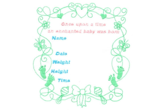 Enchanted Baby Babies & Kids Quotes Embroidery Design By Sue O'Very Designs