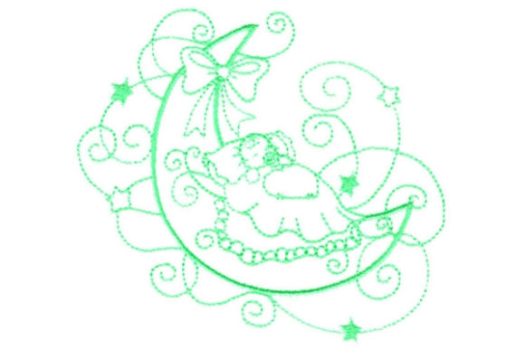Enchanted Baby Babies & Kids Embroidery Design By Sue O'Very Designs