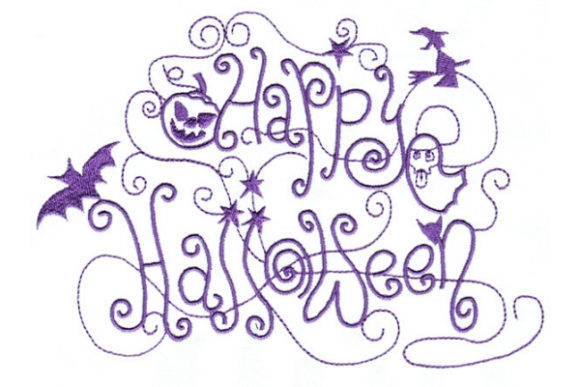 Enchanted Fall Halloween Diseños de bordado Por Sue O'Very Designs