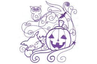 Enchanted Fall Halloween Embroidery Design By Sookie Sews