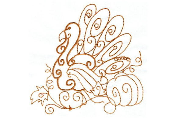 Enchanted Fall Thanksgiving Embroidery Design By Sue O'Very Designs