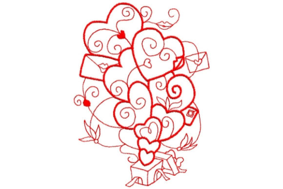 Enchanted Love Valentine's Day Embroidery Design By Sue O'Very Designs