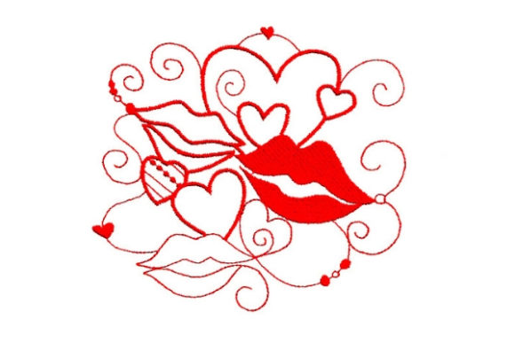 Enchanted Love Valentine's Day Embroidery Design By Sue O'Very Designs - Image 1