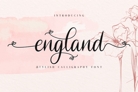 Print on Demand: England Script & Handwritten Font By Bluestudio