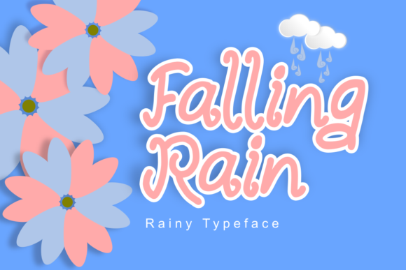 Print on Demand: Falling Rain Display Font By Rusd studio