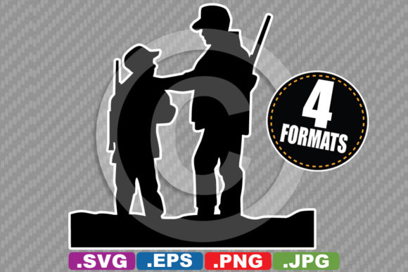 Download Free Father Son Hunting Silhouette Graphic By Idrawsilhouettes SVG Cut Files