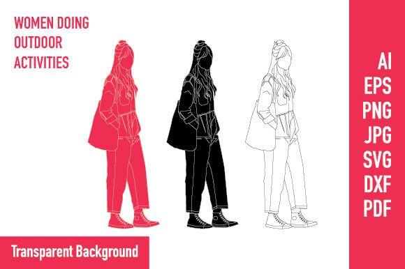 Download Free Flat Illustration Women On The Street Graphic By Valeniastudio SVG Cut Files