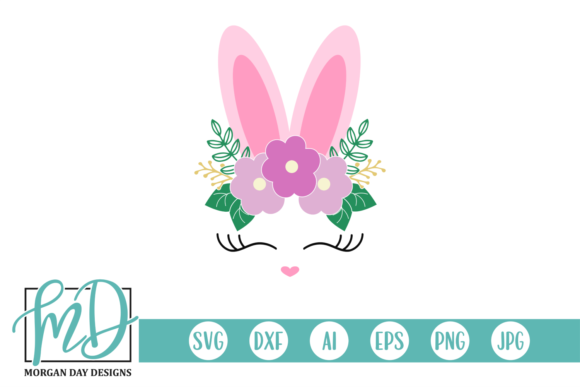Download Free Floral Easter Bunny Face Graphic By Morgan Day Designs SVG Cut Files