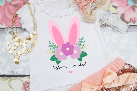 Download Free Floral Easter Bunny Face Graphic By Morgan Day Designs for Cricut Explore, Silhouette and other cutting machines.