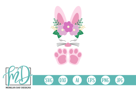 Download Free Floral Easter Bunny Graphic By Morgan Day Designs Creative Fabrica for Cricut Explore, Silhouette and other cutting machines.