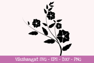 Download Free Flowers Silhouette 2 Graphic By Vikshangat Creative Fabrica for Cricut Explore, Silhouette and other cutting machines.