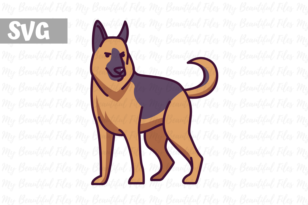 German Shepherd Silhouette Svg Free Svg Cut Files Create Your Diy Projects Using Your Cricut Explore Silhouette And More The Free Cut Files Include Svg Dxf Eps And Png Files