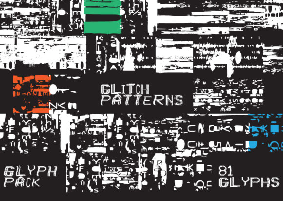 Print on Demand: Glitch Patterns Dingbats Font By GraphicsBam Fonts
