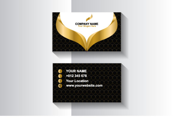 Gold Business Card Design Template Graphic Print Templates By sartstudio