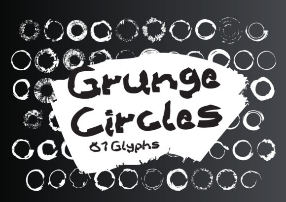 Print on Demand: Grunge Circles Dingbats Font By GraphicsBam Fonts