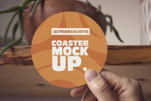 Print on Demand: Hand Round Coaster Mockup Graphic Product Mockups By SmartDesigns