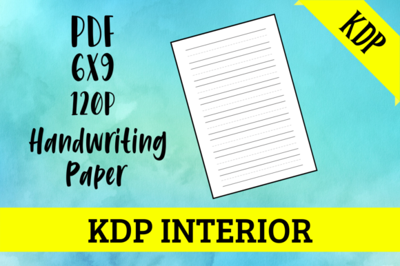 Print on Demand: Handwriting Paper | KDP Interior Graphic KDP Interiors By Hungry Puppy Studio