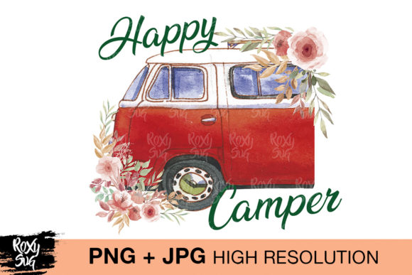 Print on Demand: Happy Camper Graphic Crafts By roxysvg26