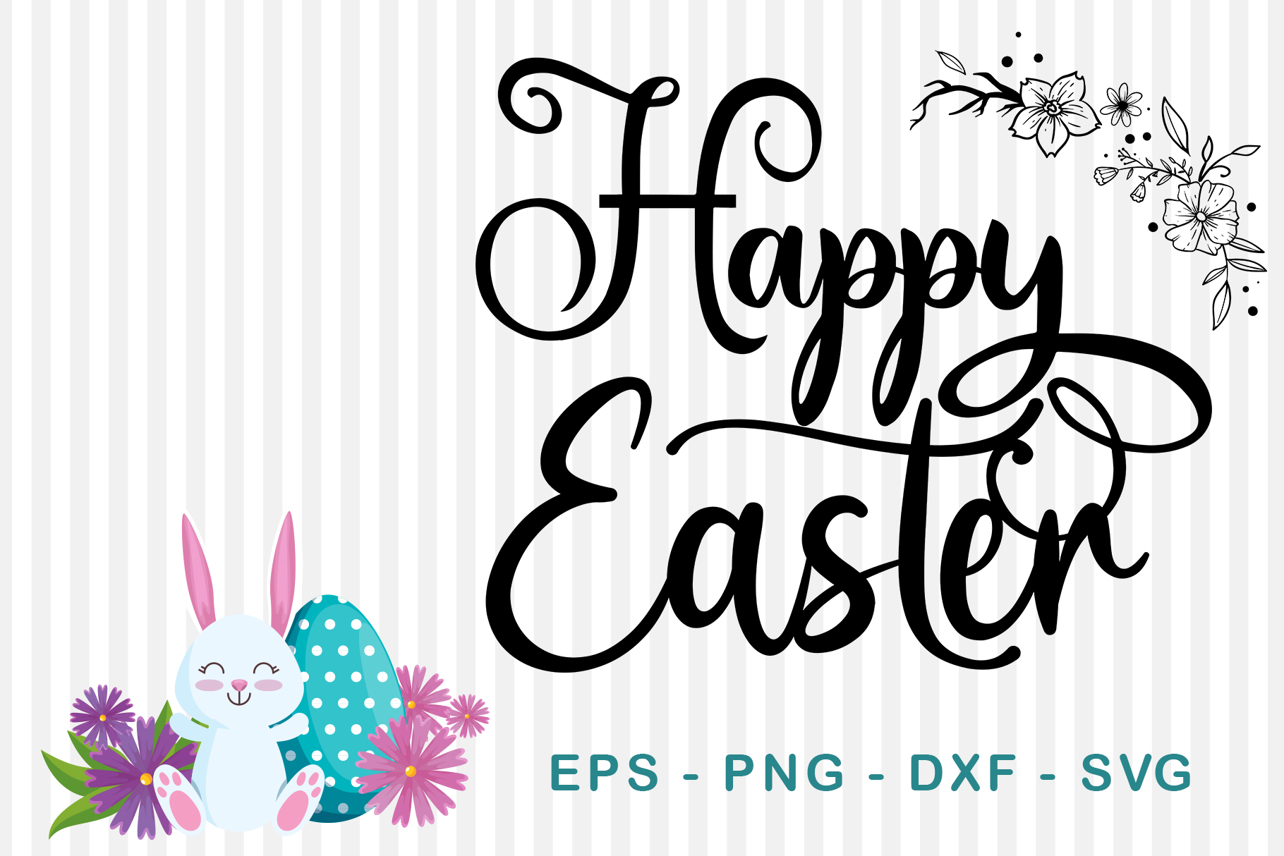 Download Free Happy Easter Graphic By Sharon Dmstudio Creative Fabrica for Cricut Explore, Silhouette and other cutting machines.