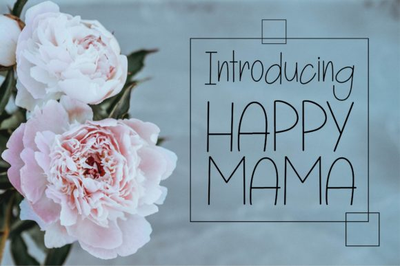 Print on Demand: Happy Mama Script & Handwritten Font By KtwoP