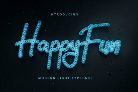 Print on Demand: HappyFun Display Font By Vunira