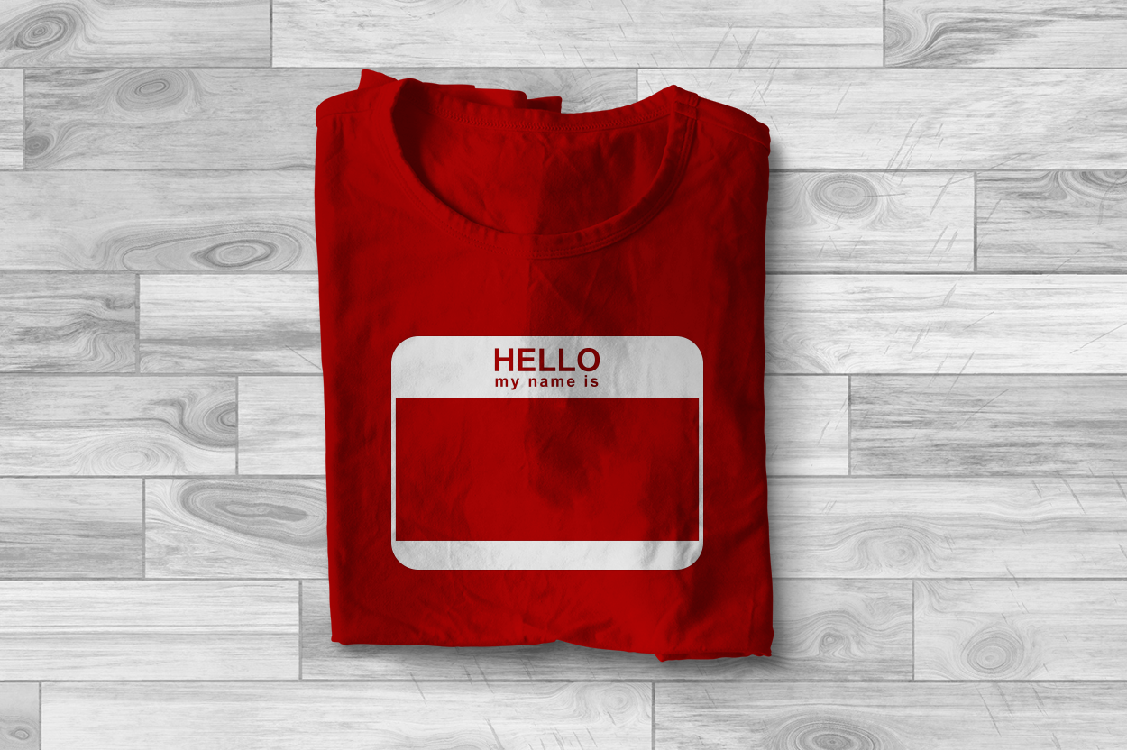 Download Free Hello My Name Is Name Tag Graphic By Designedbygeeks Creative for Cricut Explore, Silhouette and other cutting machines.