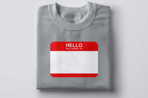 Hello My Name is Name Tag Graphic Crafts By DesignedByGeeks - Image 2