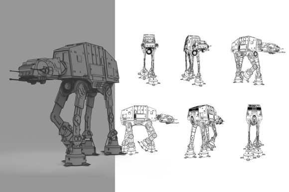 Print on Demand: Imperial Walker Graphic Illustrations By Gblack Id