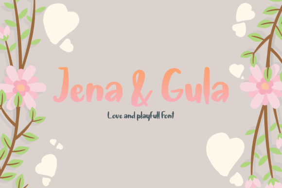 Print on Demand: Jena & Gula Display Font By Analogous