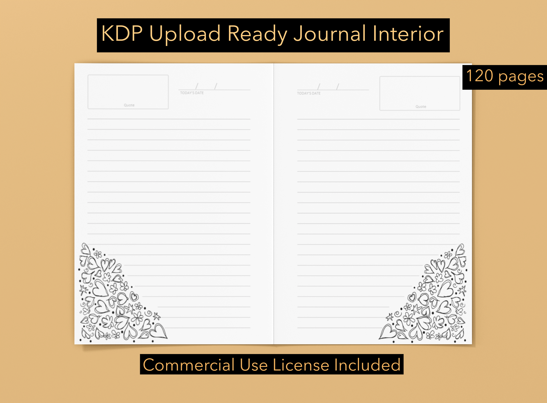 Download Free Kdp Journal Interior 2 Grafico Por Ombremedia Creative Fabrica for Cricut Explore, Silhouette and other cutting machines.