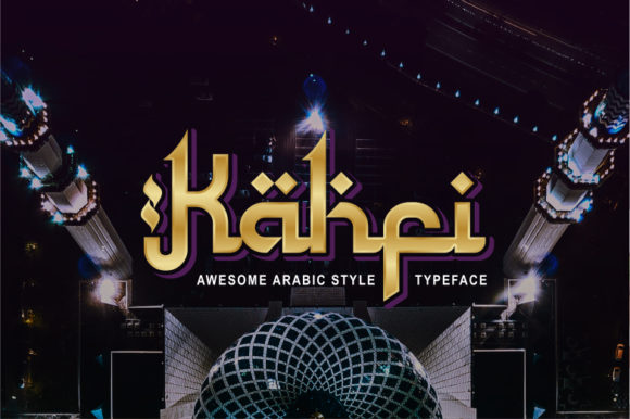 Print on Demand: Kahfi Display Font By nurfdesigns