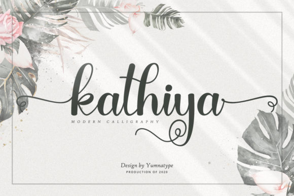 Print on Demand: Kathiya Script & Handwritten Font By Yumna_Type