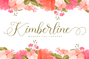 Print on Demand: Kimberline Script & Handwritten Font By NissaStudio