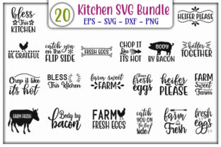 Print on Demand: Kitchen Bundle Graphic Print Templates By GraphicsBooth