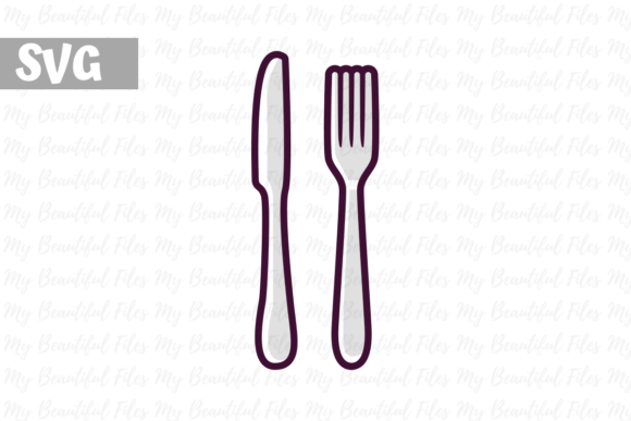 Download Free Knife And Fork Icon Svg Graphic By Mybeautifulfiles Creative for Cricut Explore, Silhouette and other cutting machines.