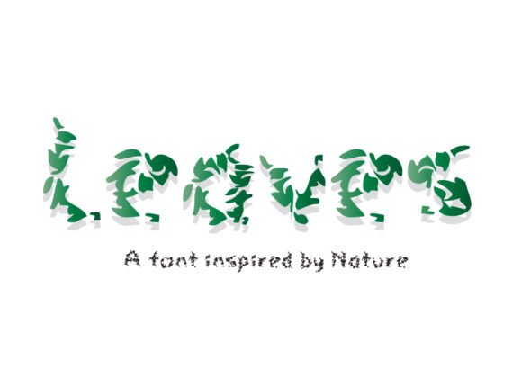 Print on Demand: Leaves Decorative Font By GraphicsBam Fonts