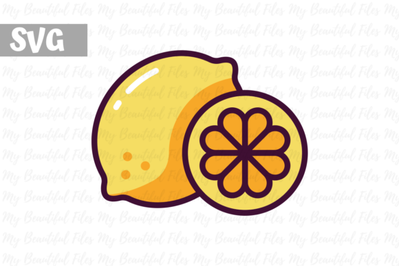 Download Free Lemon Illustration Icon Svg Graphic By Mybeautifulfiles for Cricut Explore, Silhouette and other cutting machines.