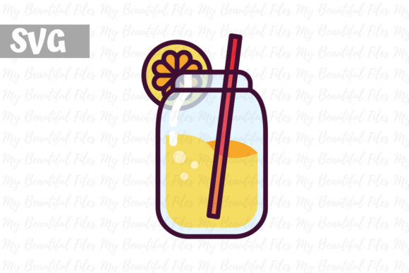 Download Free Lemonade Icon Graphic By Mybeautifulfiles Creative Fabrica for Cricut Explore, Silhouette and other cutting machines.