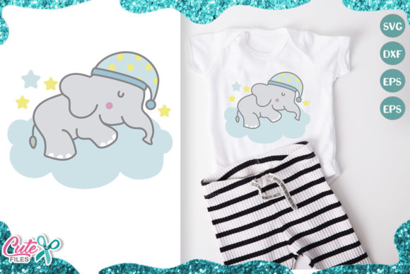 Little Elephant, Sweet Dreams Graphic Illustrations By Cute files